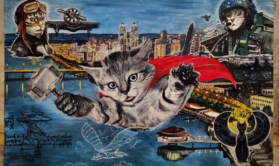 Почему художник Тарас Билоус не обиделся на кота, а написал его портрет маслом